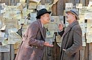 David Bermann (Moritz Bleibtreu, rechts) scherzt mit Fränkel (der Schweizer Anatole Taubman) herum. (Bild: Filmcoopi)