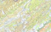 Kartenblatt von Schüpfheim. (Bild: Screenshot)