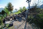 Der Brandplatz auf der Rotifluh zwischen Emmetten und Stockhütte. (Bild: Kapo Nidwalden)