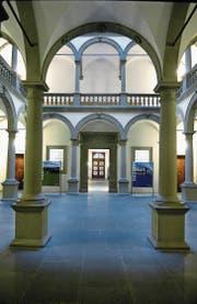 Der Lichthof im Regierungsgebäude. (Bild: Nadia Schärli (Luzern, 6. Februar 2014))