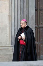 Bischof Vitus Huonder hat wiederholt für Unmut im Bistum Chur gesorgt. (Bild: Keystone/Arno Balzarini)