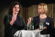 Von links: Grossstadträtin Korintha Bärtsch, Nationalrätin Natalie Rickli und Bundesrätin Doris Leuthard. (Bild: Philipp Schmidli (Luzern, 22. März 2018))