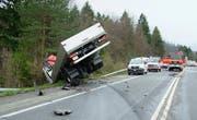 Ein Unfall im Kanton Obwalden. (Bild Kantonspolizei Obwalden)