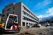 Die Eröffnung rückt immer näher: der neue Bettentrakt des Kantonsspitals Obwalden. (Bild Corinne Glanzmann)