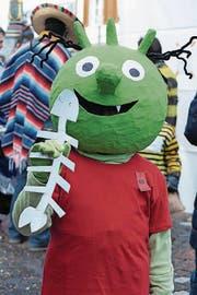 Jonas Portmann (9), Sursee: «Ich habe mich für dieses Kostüm entschieden, weil ich ein grosser Fan von den ‹Olchis› bin. Ich habe bereits nach Weihnachten mit der Bastelarbeit angefangen.»