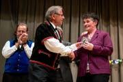 Auch Luzerner Kantonsratspräsidentin Vroni Thalmann war vor Ort. (Bild: Philipp Schmidli (Marbach, 12. August 2017))