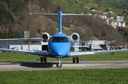 Der dritte Prototyp des neuen PC 24 auf dem Flughafen Buochs. (Bild: Robert Maeder)