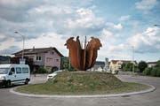 Der Kreisel in Buttisholz. (Bild: Corinne Glanzmann (LZ))