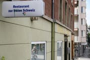 Das Restaurant zur Freien Schweiz an der Neustadtstrasse in Luzern schliesst. (Bild: Claude Hagen / Neue LZ)