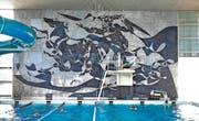 Das Wandbild Poseidon von Hans Erni. (Bild Corinne Glanzmann)