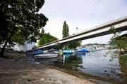 Der Bootshafen vor dem Inseli als Standort für die Salle Modulable: Diese Idee ist umstritten. (Bild: Manuela Jans)