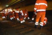 Gleisarbeiten Bahnunterbruch SBB Streckenunterbruch Symbolbild (Bild: PD/SBB)