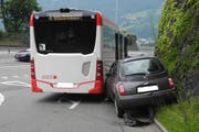 Die Unfallstelle in Brunnen. (Bild: Kapo Schwyz)