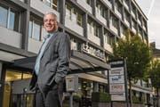 Pro-Senectute-Geschäftsleiter Ruedi Fahrni freut sich auf den neuen Standort an der Maihofstrasse. (Bild: Dominik Wunderli (Luzern, 2. November 2017))