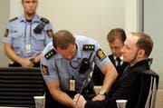 Anders Breivik während seines Prozesses im August 2012. (Bild: Keystone)