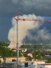 Der Brand in Geuensee war von weitem zu sehen. (Bild Leserreporter)