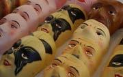 Am Zentralschweizer Fasnachtsmarkt in Brunnen gibt es auch Masken zu kaufen. (Bild pd)