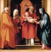 Darstellung Christi im Tempel: Der Prophet Simeon nimmt Jesus in seine Arme und erkennt in ihm den Messias. Gemälde von Fra Bartolomeo (1472–1517).