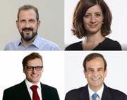 Die Gesprächsteilnehmer am LZ-Podium: Giuseppe Gracia, Ylfete Fanaj, Pirmin Müller und Gerhard Pfister. (Bild: PD)