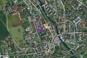 In der Herrengasse in Cham ist es am Donnerstag zu einem Wohnungsbrand gekommen. (Bild: mapsearch.ch)