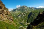 Die Tremola windet sich zur St.-Gotthard-Passhöhe hinauf. (Bild: PSG 2020)