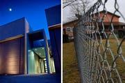 Die Justizvollzugsanstalt Grosshof in Kriens (links) und die Strafanstalt Wauwilermoos. (Bilder: LZ)