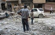 Die syrische Stadt Duma nach einem Luftangriff Mitte November. (Bild: Mohammed Badra/EPA (17. Nov. 2017))