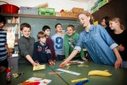 Drei statt zwei Stunden Französisch: Das soll künftig auch für die Schüler des Schulhauses Säli (Bild) im Luzerner Bruchquartier gelten. (Bild: Manuela Jans/Neue LZ)
