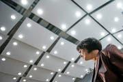 Energieministerin Doris Leuthard – hier bei einer Medienkonferenz in Bern – wurde bei ihrem Besuch in Brüssel auf dem falschen Fuss erwischt. (Bild: Keystone/Peter Klaunzer)