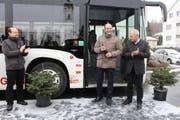 Die Einweihung der neuen Buslinie. (Bild: PD)