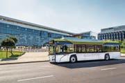 Ein «Solaris Urbino 12 electric» während einer Testfahrt in der polnischen Stadt Posen. (Bild: PD/Solaris)