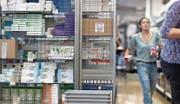 Einblick ins Logistikzentrum der Versandapotheke Zur Rose. (Bild:)