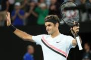Roger Federer am Australien Open. (Bild: EPA/TRACEY NEARMY)