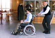 Der querschnittgelähmte Silvano Beltrametti im Schweizer Paraplegiker-Zentrum in Nottwil. (Archivbild Beat Blättler/Neue LZ)