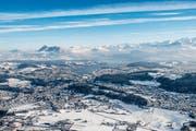 Nidwalden spricht Geld für die Winteruniversiade 2021. Auf dem Bild: Stadt Luzern im Winterkleid. (Bild: ZVG)