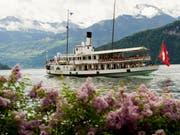 """Das Dampfschiff """"Stadt Luzern"""" auf dem Vierwaldstättersee (Archiv) (Bild: Keystone)"""