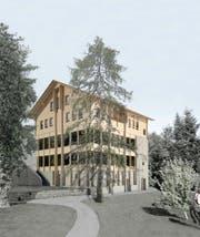 So soll das neue Restaurant Hergiswald dereinst aussehen. (Bild: Visualisierung: PD)
