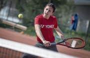 Kristina Milenkovic ist seit sieben Jahren fast täglich auf dem Tennisplatz anzutreffen. (Bild: Pius Amrein (Schenkon, 6. April 2017))