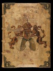 Deckel des ältesten Bürgerbuchs der Stadt Luzern aus dem Jahr 1357, COD 3655 (Bild: Staatsarchiv Luzern)