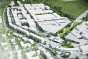 So könnte der Innovationspark auf dem Militärflugplatz in Dübendorf aussehen. (Bild: PD)
