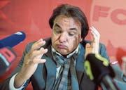 Hat sich mit der Attacke gegen Rolf Fringer einmal mehr ins Abseits gestellt: Sion-Präsident Christian Constantin. (Bild: Maire/Key (Martigny, 22. 9.))