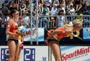 Am Donnerstag gehts los: Ab 17 Uhr wird in Zug Beachvolley gespielt. (Bild: Archiv Neue ZZ)