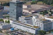 Blick auf das Areal von Roche in Rotkreuz. (Bild Stefan Kaiser)