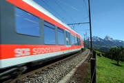 Die Südostbahn bei Steinerberg (Bild: Erhard Gick/Neue SZ)