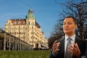 Der chinesische Investor Yunfeng Gao will das Hotel Palace in Luzern kaufen. (Bilder Philipp Schmidli / Roger Grütter, Bearbeitung rem)