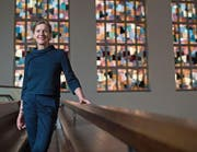 Marlene Odermatt, Präsidentin der Reformierten Kirchgemeinde Luzern, in der Lukaskirche. (Bild: Boris Bürgisser (Luzern, 15. Dezember 2017))