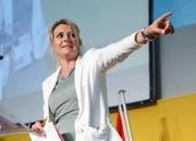 Verlässt die CVP: Generalsekretärin Béatrice Wertli. (Bild: Eddy Risch / Keystone (Appenzell, 20. August 2016))