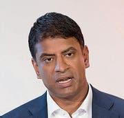 Der neue Novartis-CEO Vasant Narasimhan (41). Bild: Keystone (Bild: Keystone)