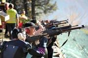 Gute Sichtverhältnisse herrschten für die Schützen am diesjährigen Rütlischiessen. (Bild: Urs Hanhart)