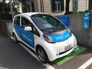 Die neue EWA-Elektrotankstelle an der Herrengasse. (Bild: PD)